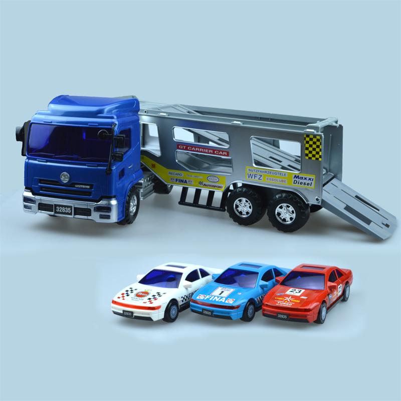力利惯性车工程车大号轿运车拖车儿童玩具汽车模型32835