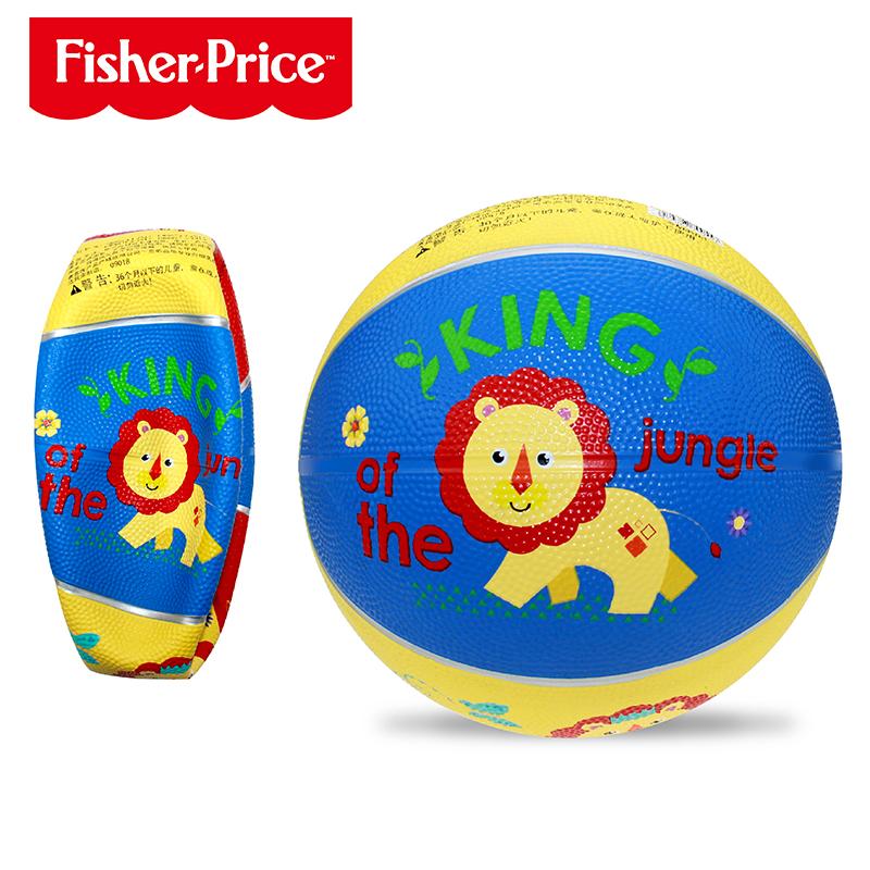 费雪球儿童篮球玩具3岁幼儿园专用小皮球拍拍球婴儿宝宝训练球类