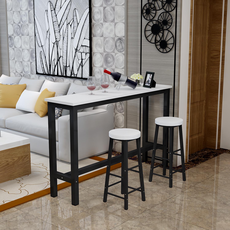 Simple Bar Counter Wall Table Long Narrow High Wrought Iron Stool Home Coffee