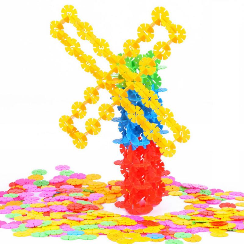 小搭档雪花片大号塑料儿童益智拼插拼装积木宝宝玩具男女孩3-6岁