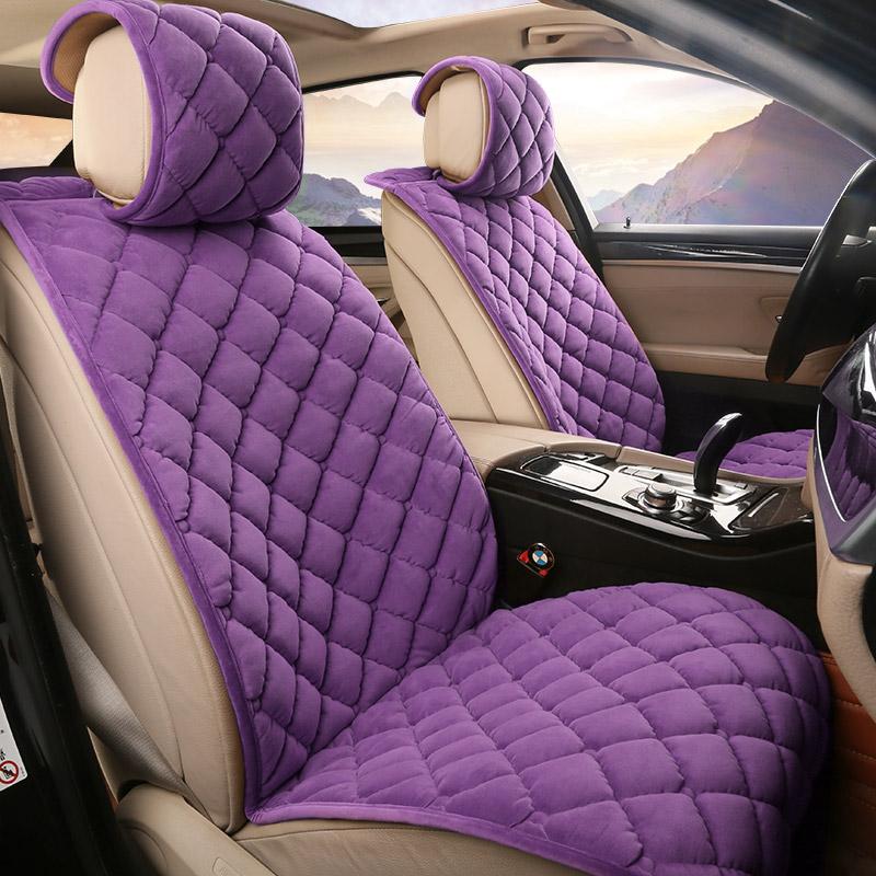 座椅汽车冬季坐垫通用前排短毛绒a座椅座套套毛绒防滑冬天车垫座垫