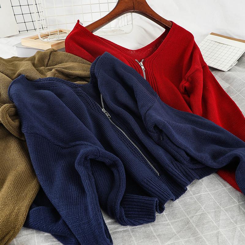 P115 краткое модель свитер неосторожный ленивый ветер порт вкус chic волна свитер женщины в моделье темперамент дикий свитер малыми пределами крышка 609976983937