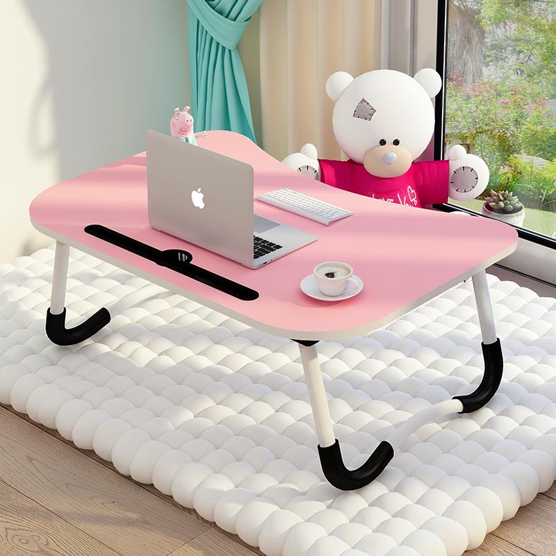床上小桌子电脑做桌书桌笔记本可折叠懒人大学生多功能宿舍桌板简易家用迷你上铺简约游戏可爱抖音轻巧桌