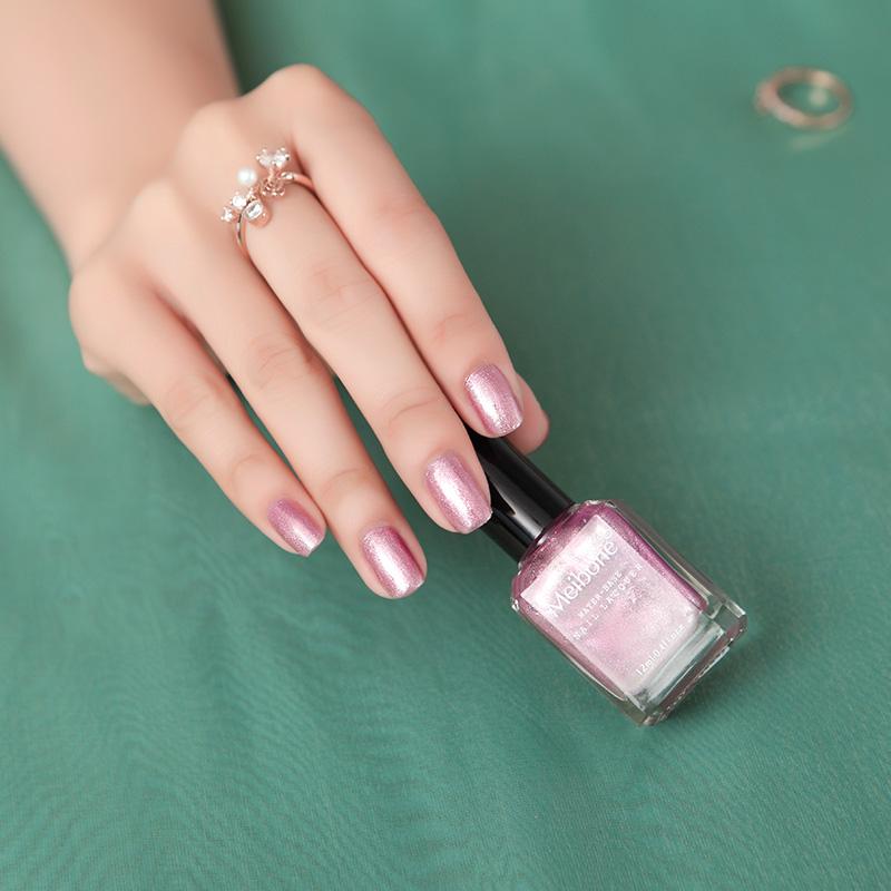 0 00] Meibone water health nail polish red nail polish peel peel non