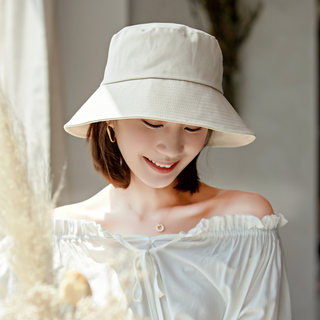 Net red fisherman's hacked Hong Kong wind INS Bachelor Day literary Korean version of the small edge bow sunshade sunscreen hat