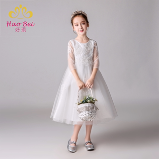 Girls' dresses, princess dresses, fluffy yarns, children's hosts, big girls, flower girls, wedding dresses, catwalks, high-end piano costumes