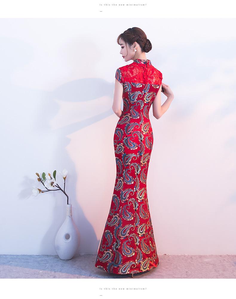帕琳婕新款秋季红色结婚礼服 - 花雕美图苑 - 花雕美图苑