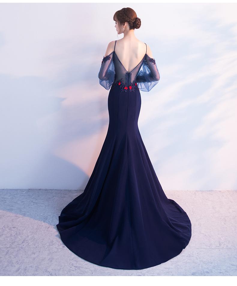时尚长款鱼尾晚礼服 - 1505147909 - 太阳的博客