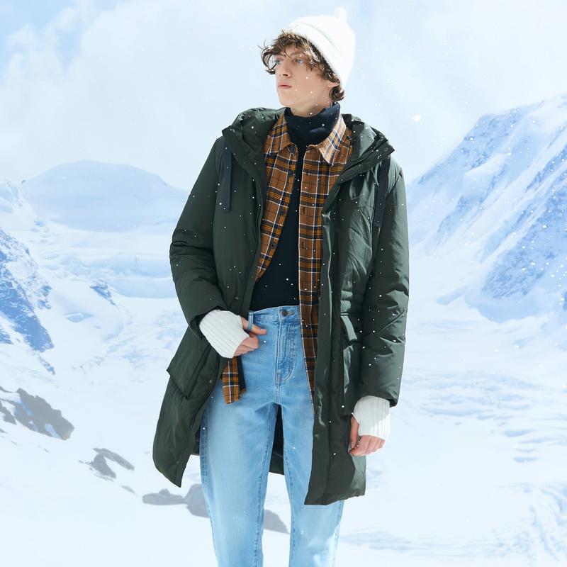 美特斯邦威羽绒服男冬季新款保暖长款学生外套男