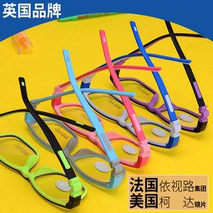 硅胶学生儿童眼镜框架TR90近视眼镜弱视配镜防蓝光辐射高散光男女