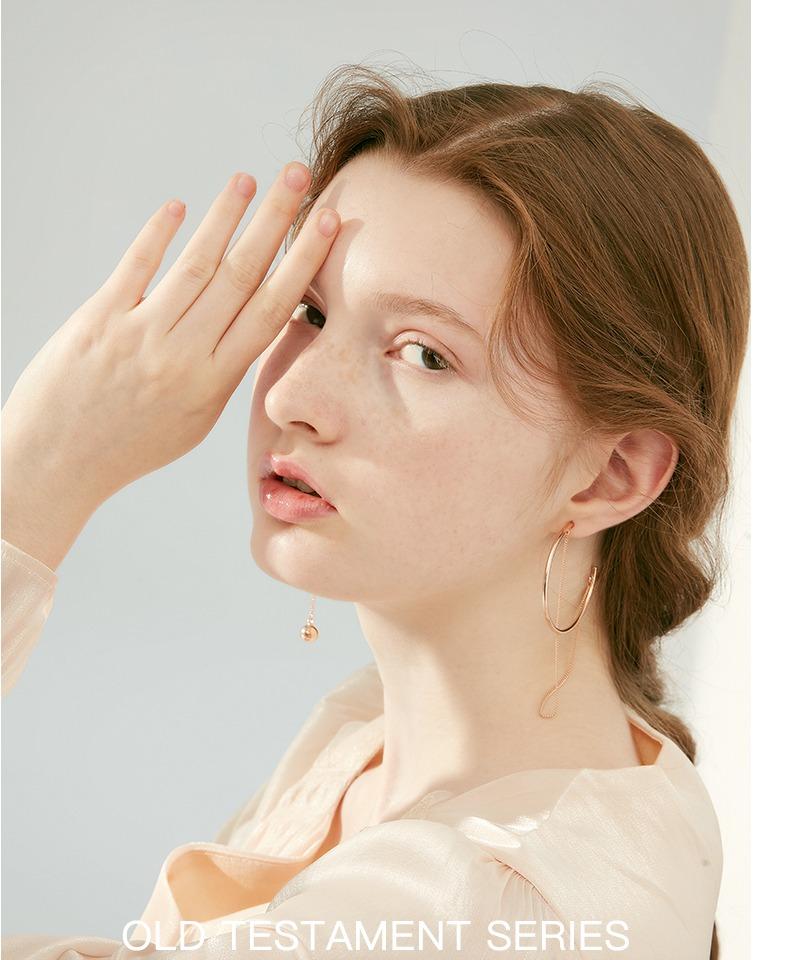 不对称耳环女气质韩国个性欧美夸张耳坠长款潮人网红简约耳圈耳饰商品详情图