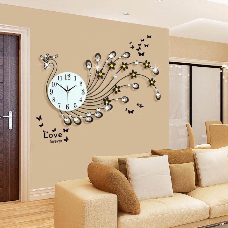 欧式创意钟表挂钟客厅大号 现代简约艺术装饰时钟表 静音石英挂钟