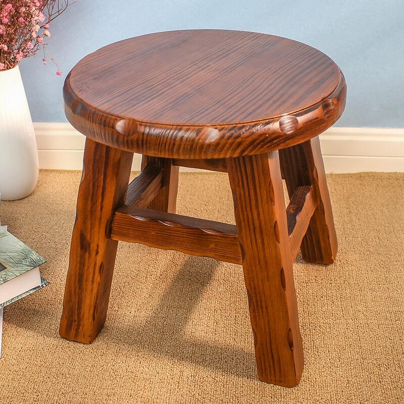 Groovy Usd 50 02 Small Stool Solid Wood Small Round Stool Coffee Customarchery Wood Chair Design Ideas Customarcherynet