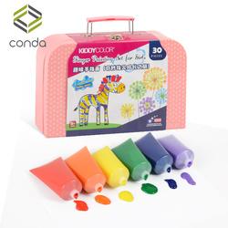 【今日特价网】儿童手指画颜料无毒可水洗宝宝指印画幼儿园涂鸦画画水彩颜料套装