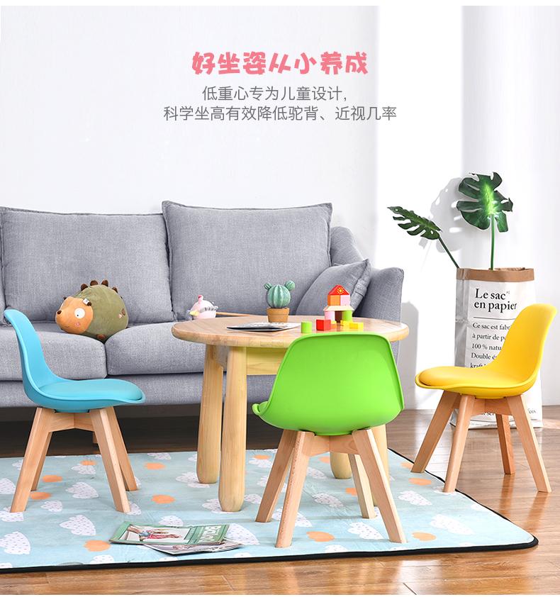 初木实木儿童椅学习椅家用靠背小椅子写字椅小板凳矮凳宝宝小凳子商品详情图