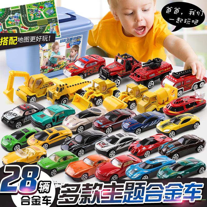 Детские Игрушечный автомобиль модели сплава автомобиля детские инженерия копия на самом деле полностью комплект небольшой мужской Ребенок 2-3-4-5 лет