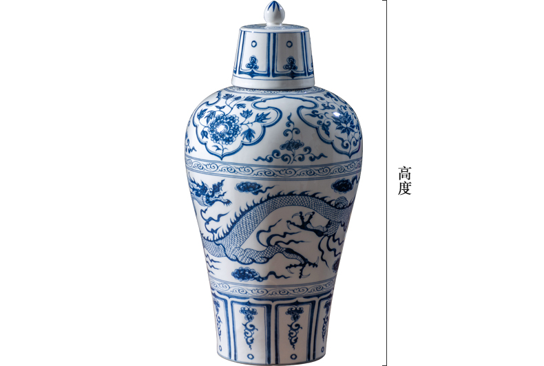 Jingdezhen blue and white porcelain bottle home 1 catty 5 jins of 10 jins to seal bottles of archaize bulk white wine bottles