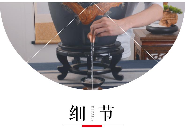Jingdezhen ceramic terms jars home wine it 10 jins 20 jins 50 kg archaize seal wine bottle with tap