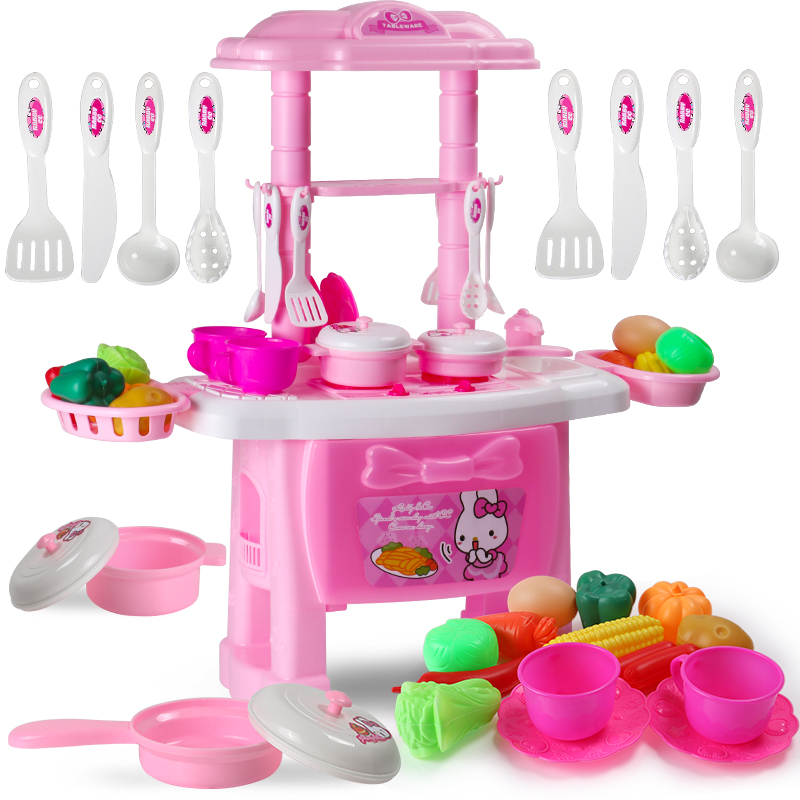 Usd children kitchen toys girls cooking for Kitchen set for 1 year old