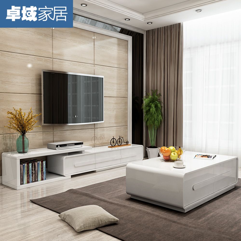 Lacquered Coffee Table TV Cabinet Simple Modern Coffee Table Cabinet Tempered  Glass Coffee Table TV Cabinet
