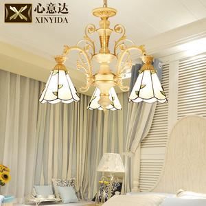 欧式地中海风格吊灯北欧蒂凡尼客厅吊灯简欧田园卧室餐厅灯饰灯具