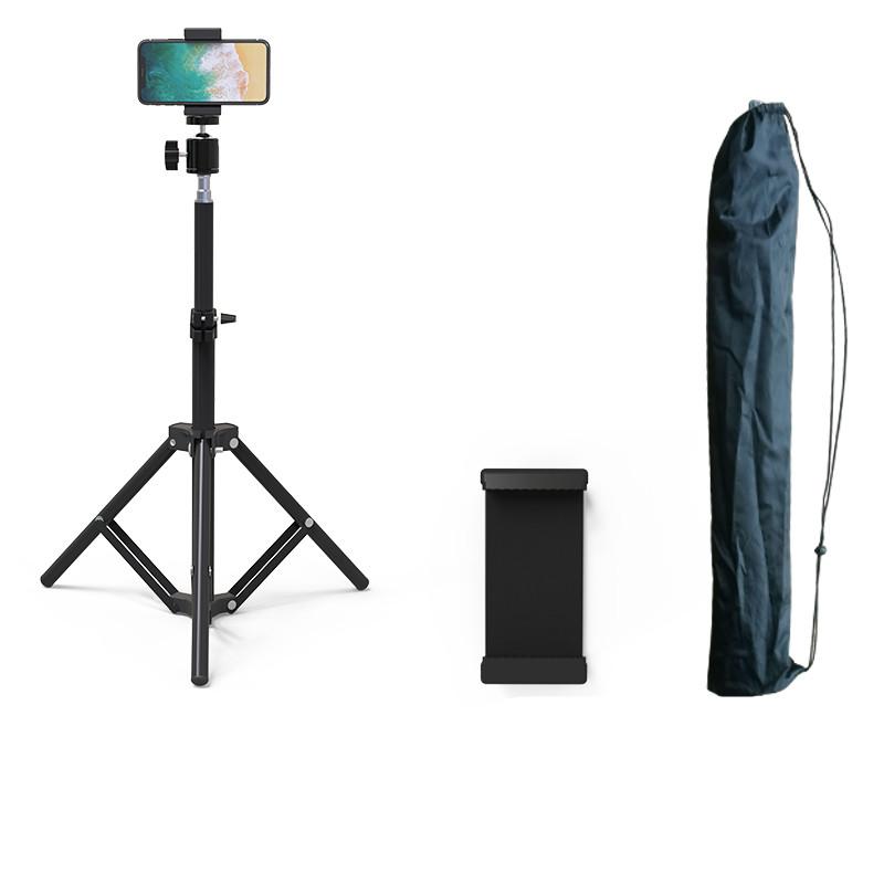 手机直播支架拍摄自拍三脚架户外便携多功能录像拍照补光灯落地式