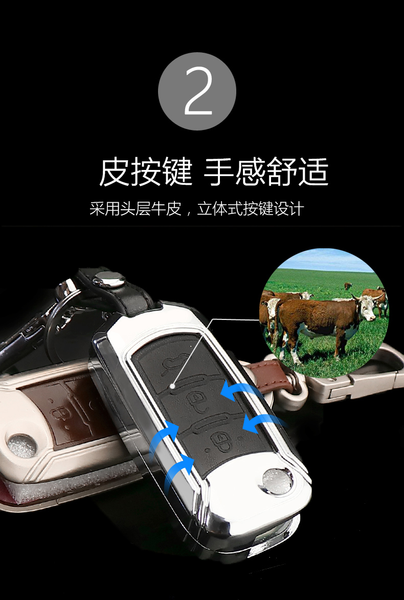 广汽传祺GS4钥匙包套GS8智能GS5折叠GA6遥控GS7汽车钥匙壳扣金属4张