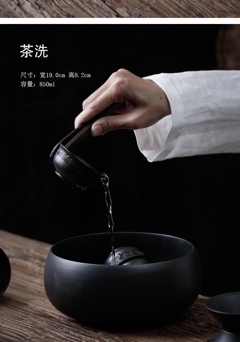 凯伊原矿黑紫砂功夫茶具办公室泡茶套装家用茶具整套支持定制logo