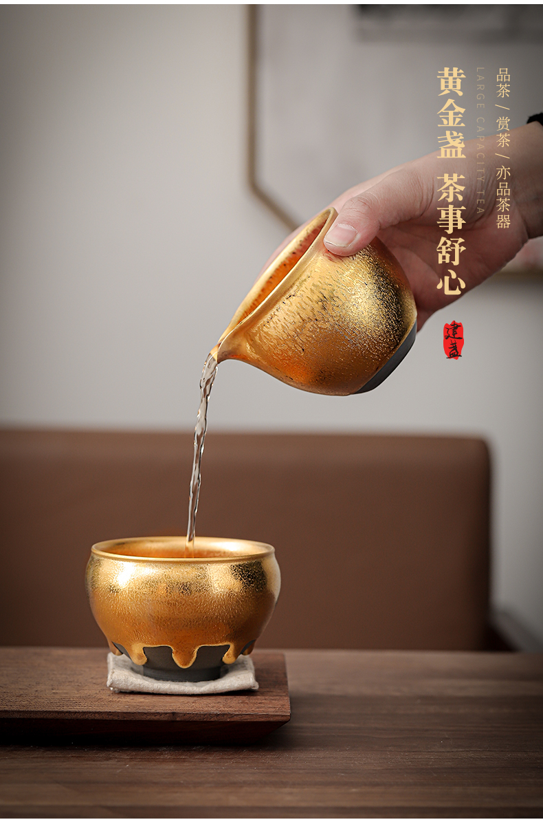 Master the general hand do fine gold gold cup sample tea cup tea masters cup building light rail tyres fullness ceramic cup