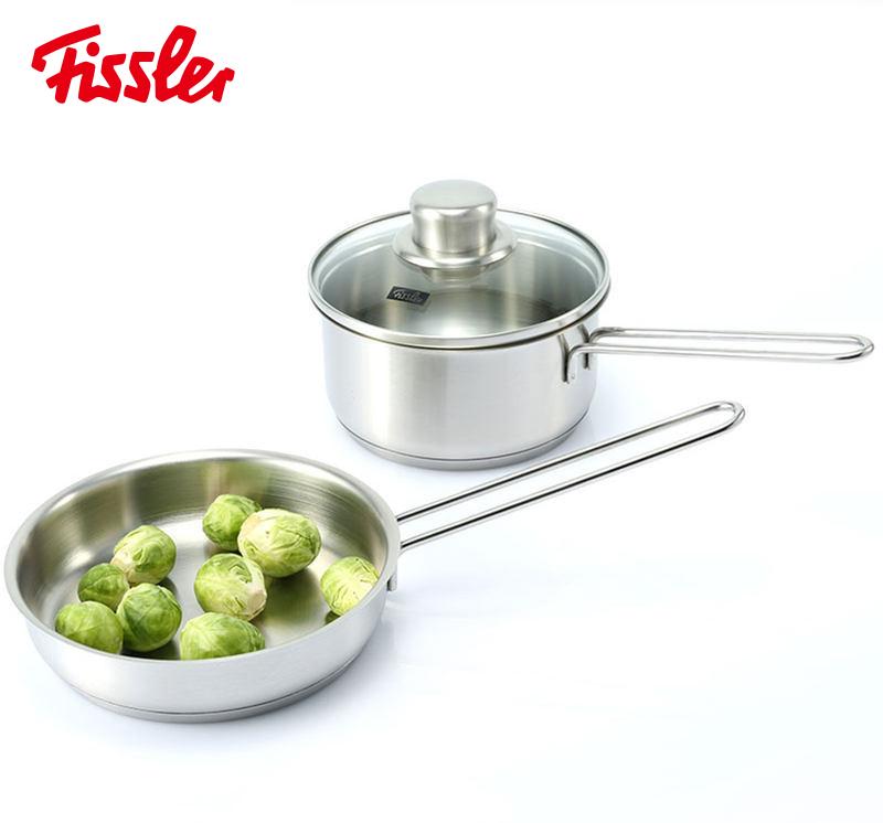 德国百年品牌 菲仕乐 Fissler 奶锅+煎锅套装