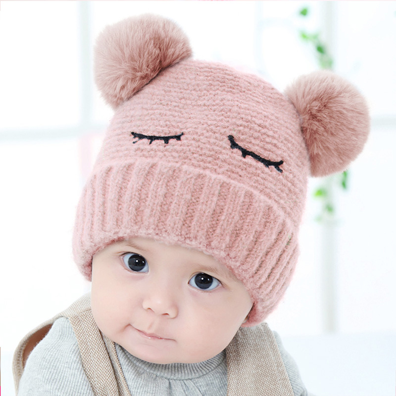 USD 19.21  Baby hat autumn and winter 3-6-12 months female baby hat ... 036c012c990