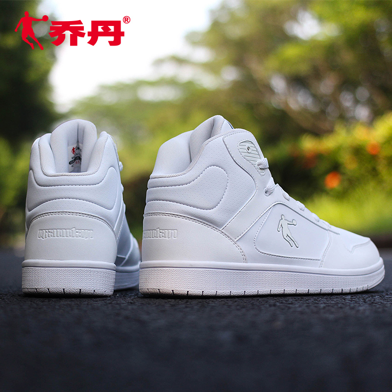 separation shoes 0d93c b0730 Jordan men s shoes shoes 2019 spring new high-top shoes men s casual shoes  genuine leather white sports shoes men