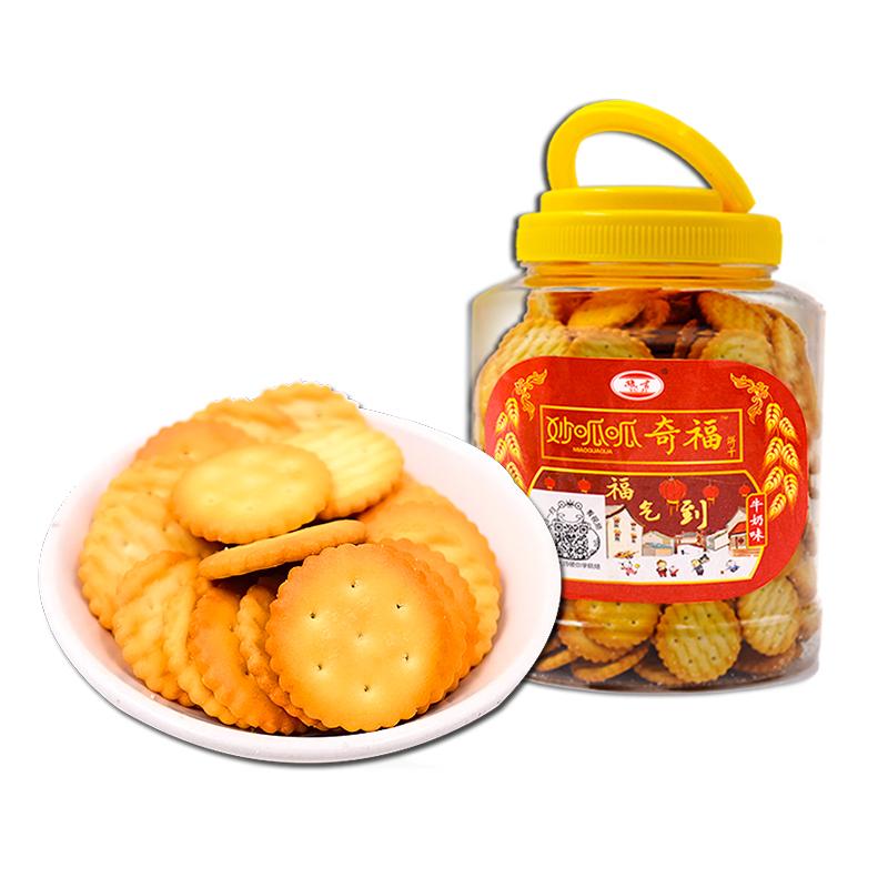 【豫吉】奇福雪花饼奶油饼干368g