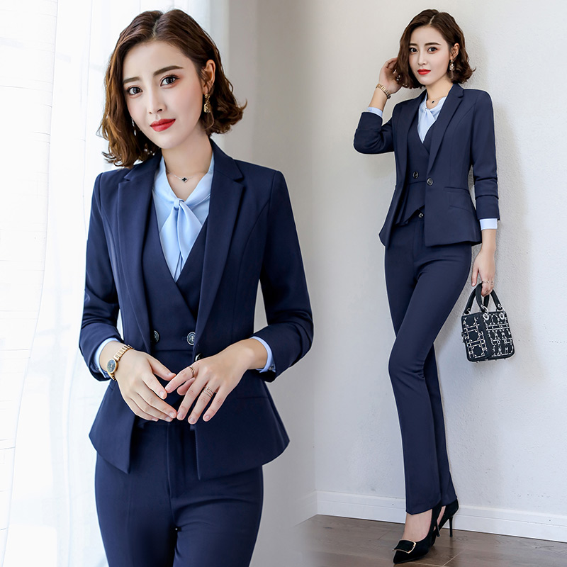 0523d826ab Professional dress suit 2019 new fashion Tooling Lady Marquee interview  formal suit overalls spring and autumn