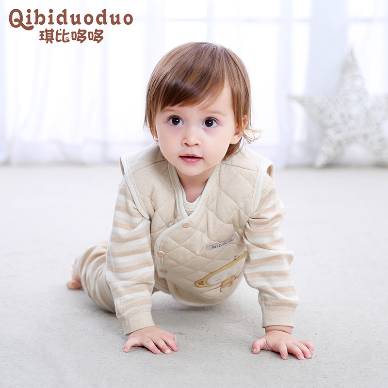 婴儿马甲加厚保暖男女宝宝背心春秋冬季新生儿小孩纯棉马夹0-1岁