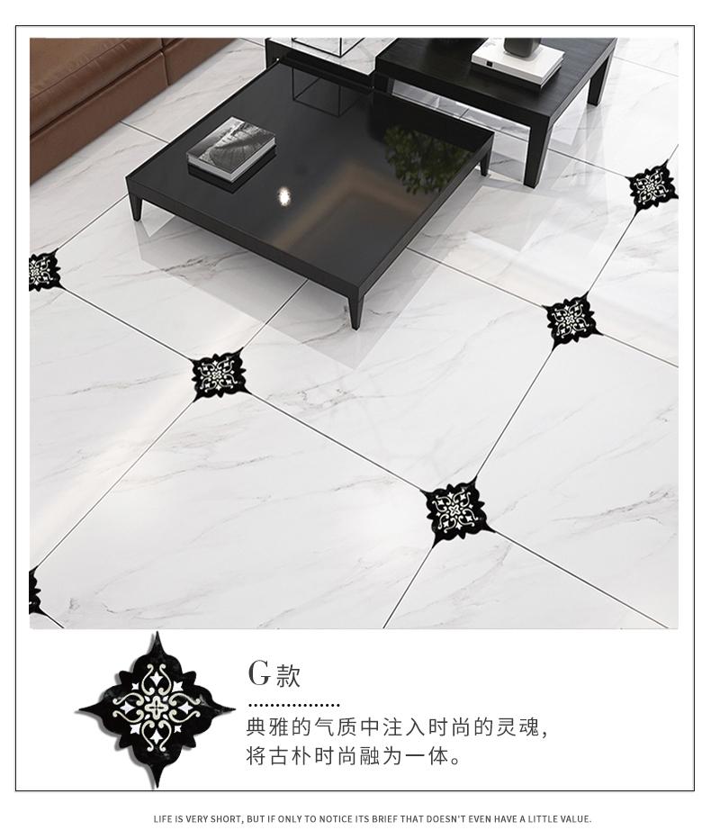自粘美缝地贴地板贴瓷砖贴纸客厅地面装饰地砖对角贴防水耐磨墙贴商品详情图