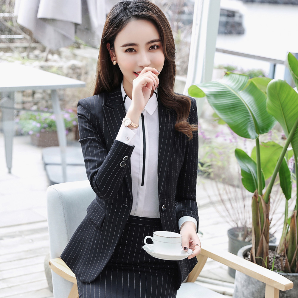 Usd 101 29 Professional Women S Suit Long Sleeved Striped Suit