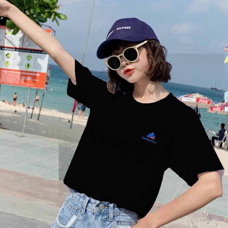 印花纯色男女夏款圆领短袖T恤多色