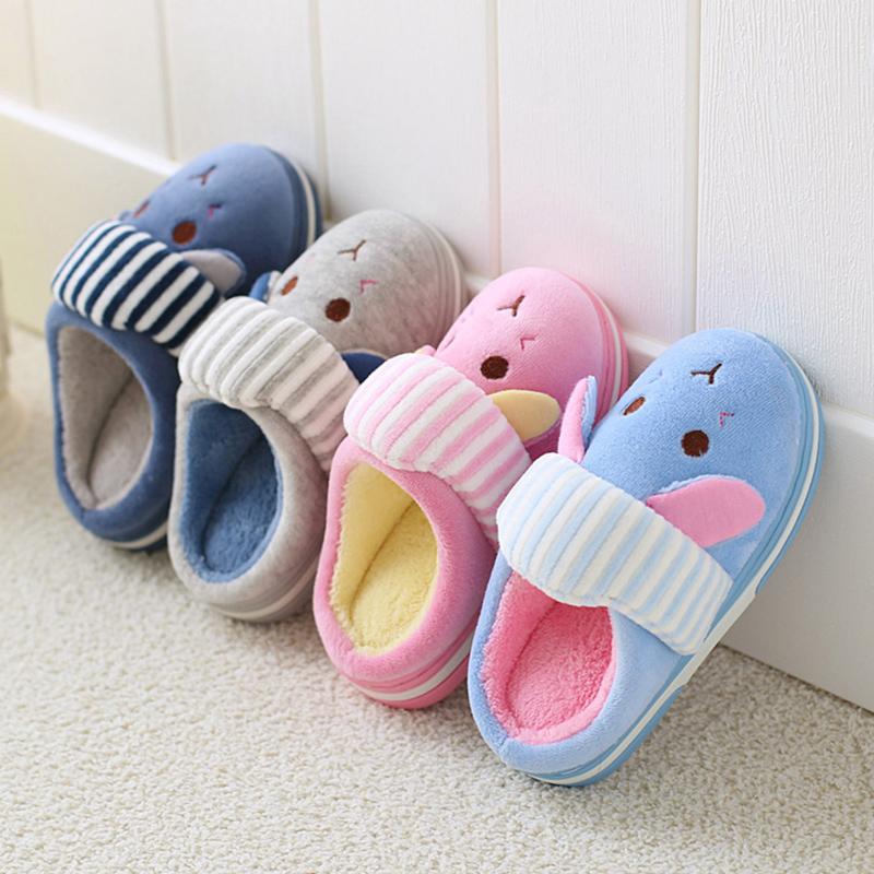 儿童棉拖鞋包跟男防滑女童毛拖鞋家居家用可爱公主3岁7宝宝棉鞋1