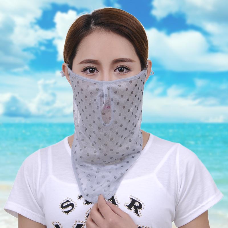 戶外防曬口罩防紫外線護頸披肩
