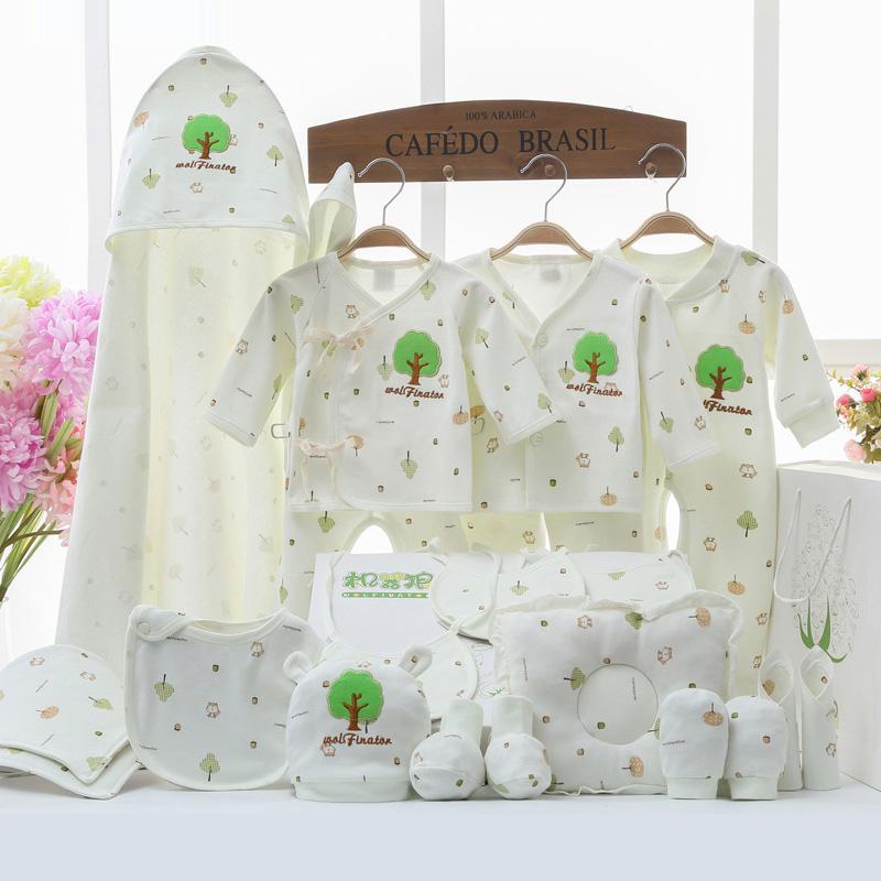 Quần áo sơ sinh cotton set hộp quà tặng 0-3 tháng 6 chỉ sinh ra sơ sinh mùa thu và mùa đông bé mùa hè bé nguồn cung cấp