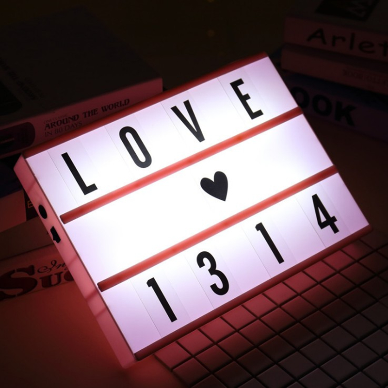 Birthday confession marriage LED letter card combination light box A4 handwriting light box room layout modeling lights