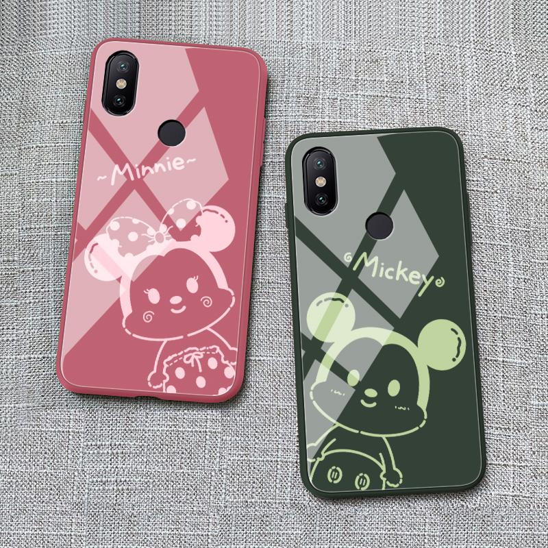 小米6X手机壳液态玻璃mi6x卡通情侣xiaomi米6x保护套5.99寸m1小迷a2男女款M1804D2SE时尚mI6x
