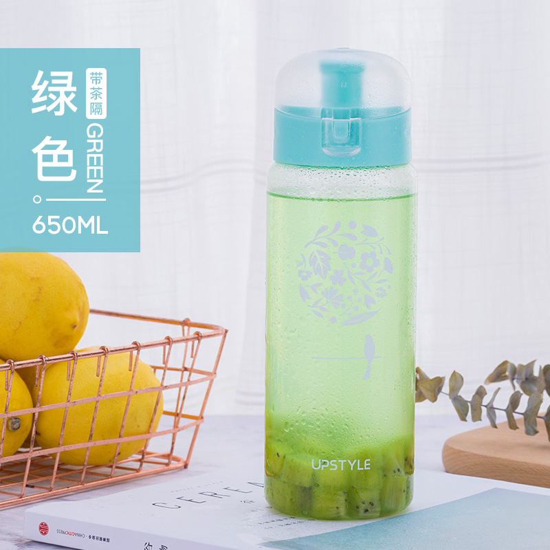 Flip cover -650ml - flower cluster green