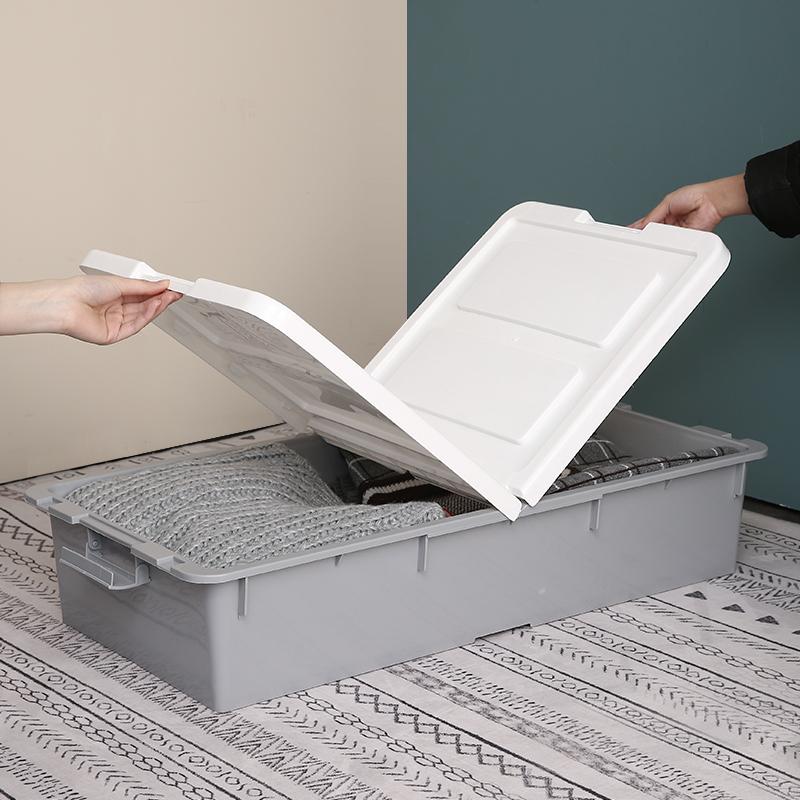 特大号床底收纳箱塑料抽屉式神器整理箱清仓批发床下衣物收纳扁平