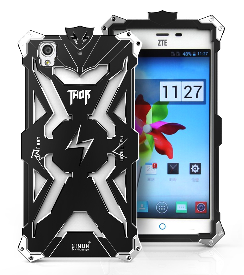 SIMON THOR Aviation Aluminum Alloy Shockproof Armor Metal Case Cover for ZTE G719c