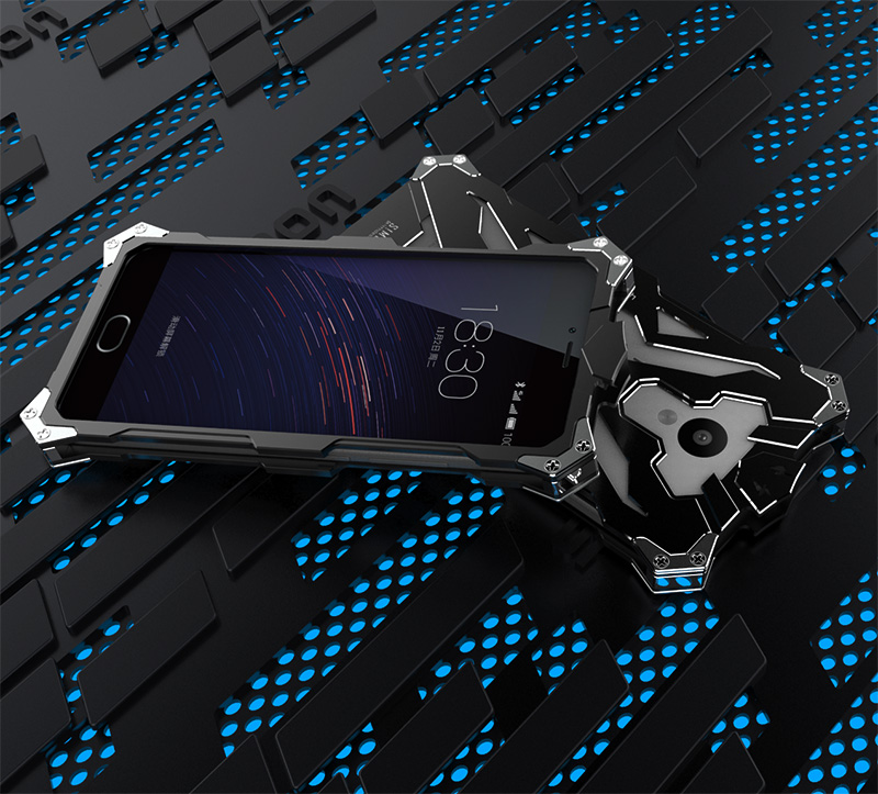 SIMON THOR Aviation Aluminum Alloy Shockproof Armor Metal Case Cover for MEIZU M5