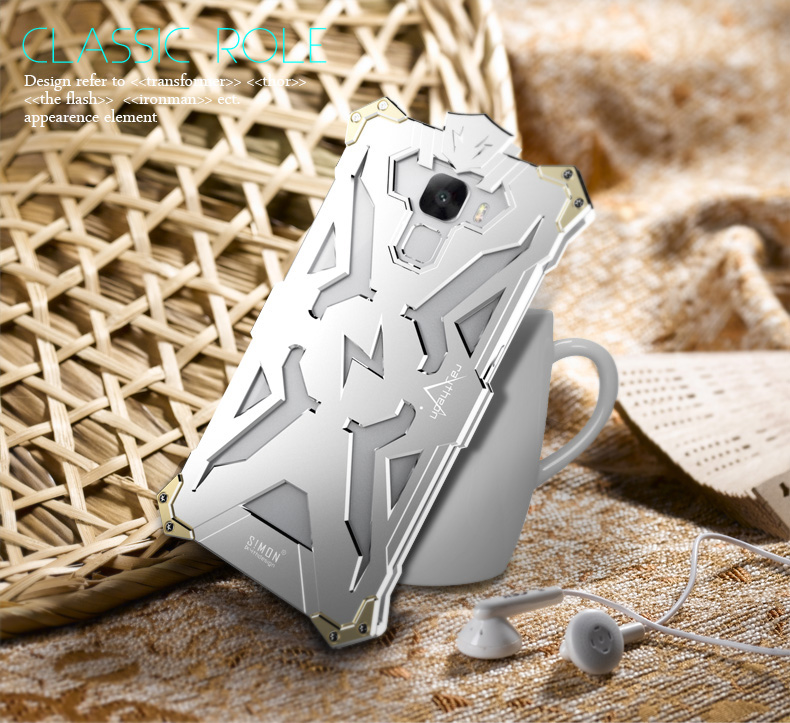 SIMON THOR Aviation Aluminum Alloy Shockproof Armor Metal Case Cover for Huawei Honor 7 & Honor 7i