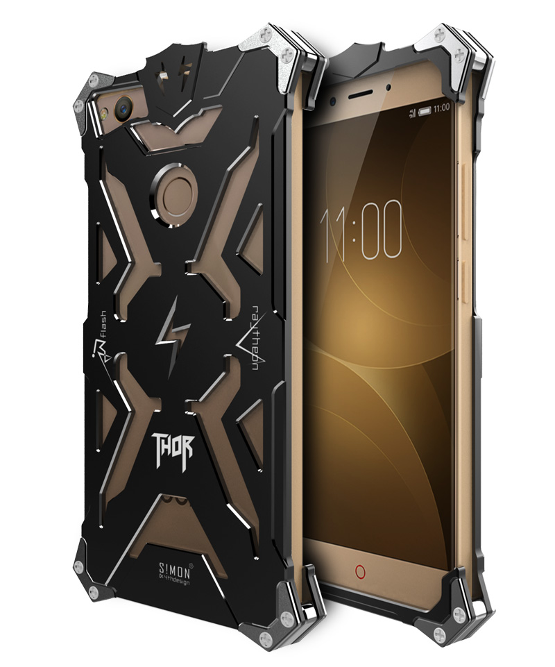 SIMON THOR Aviation Aluminum Alloy Shockproof Armor Metal Case Cover for nubia Z11 mini | nubia Z11 Max | nubia Z11