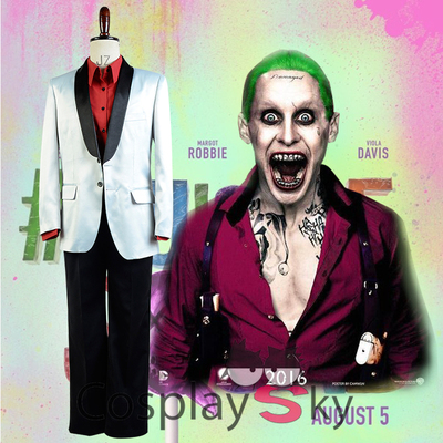 taobao agent Suicide Squad suicide squad cos clown joker cos men's clothing full set of cosplay costumes